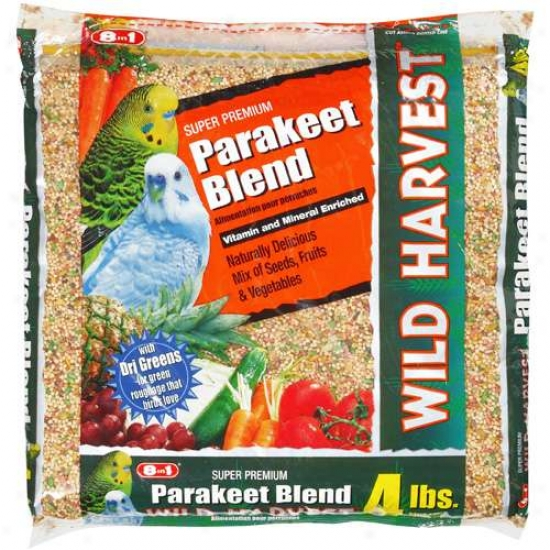 8in1 Pet Products: Super Premiuj Wild Harvest Parakeet Food, 4 Lb