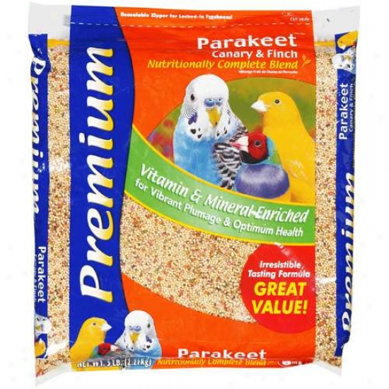 8in1: Premium Parakeet Canary & Finch Nutritionally Complete Blend Pet Food, 5 Lb
