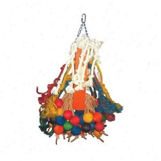 A&e Cage Co. Giant Rope And Wood Beaded Bird Toy
