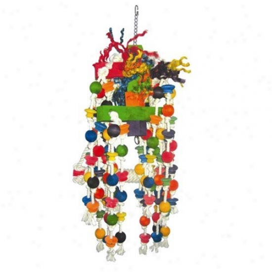 A&e Cage Co. Large Beaded Rope Swing Bird Toy With Knots