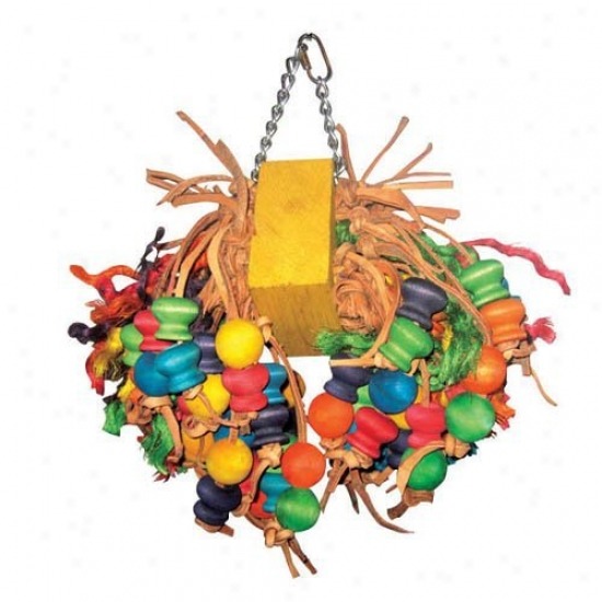 A&e Cage Co. Medium Pull And Forest Beaded Bird Toy
