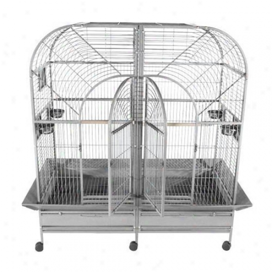 A&e Cage Co. Stainless Steel Double Macaw Bird Cage
