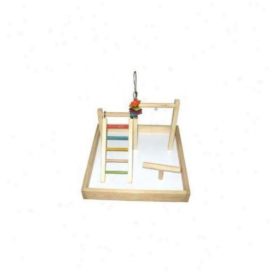 A&e Cage Co. 17''x17''x12'' Wood Tabletop Play Station