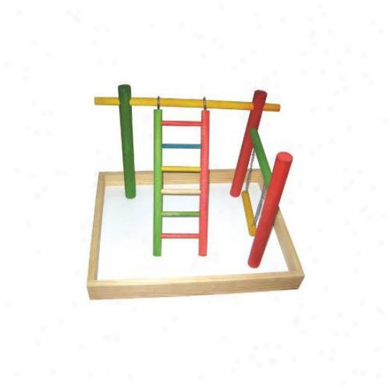 A&e Cage Co. 20''x15''x14'] Wood Tabletop Play Station