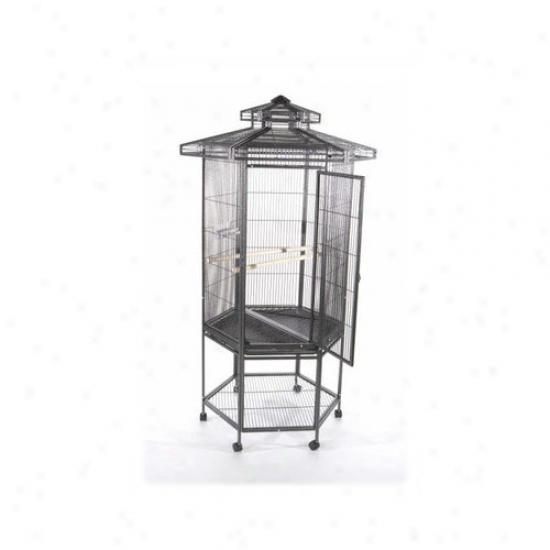 A&e Cage Co. Hexagonal Aviary Bird Cage Withh Pzgoda Top