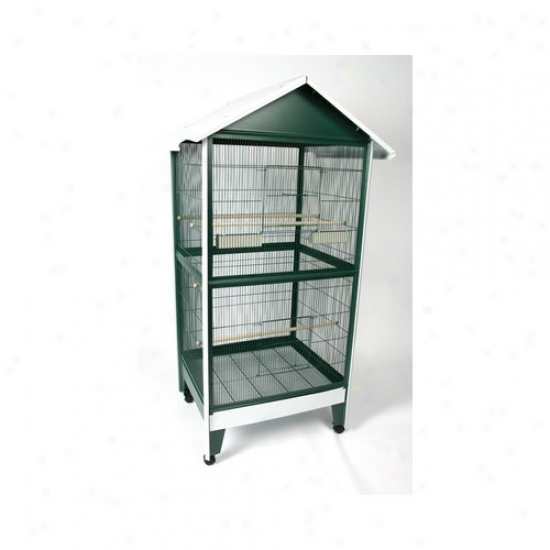 A&e Cage Co. Large Pitched Roof Aviary Bird Cage