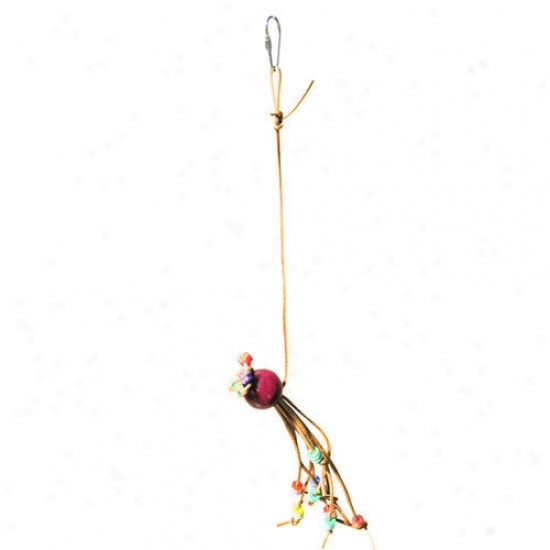 A&e Cage Co. Miniature Leather Bird Toy