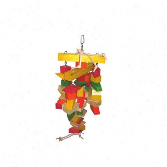 A&e Cage Co. Parallelogram Large Wooden Bird Toy