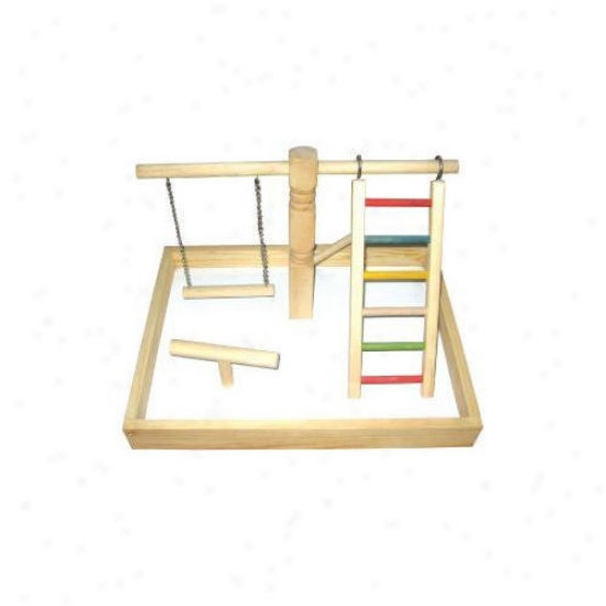 A&e Cage Co. Wood Tabletop Play Station