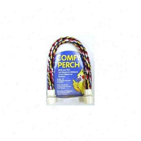Aspen Pet Booda 305-56102 Aspen Pet Booda Comfy Perch Multicolor 14in Smzll Bird Toy