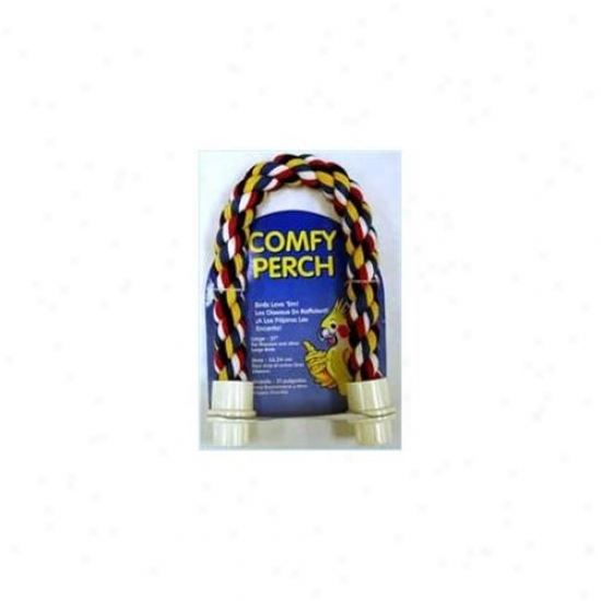 Aspen Pet Booda 305-56122 Aspen Pet Booda Comfy Perch Multicolor 21in Large Bird Toy