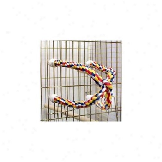 Aspen Favorite Booda 305-56132 Aspen Pet Booda Comfy Perch Multicolor 25in Ceoss Small Bird Toy