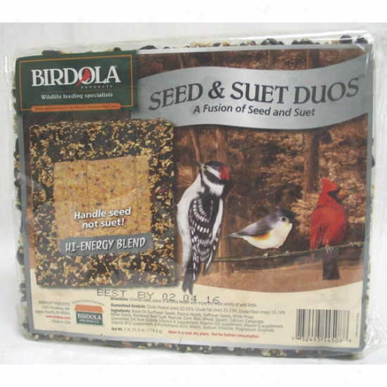 Birdola Products Hi-energy Duo Cake Wild Bird Food