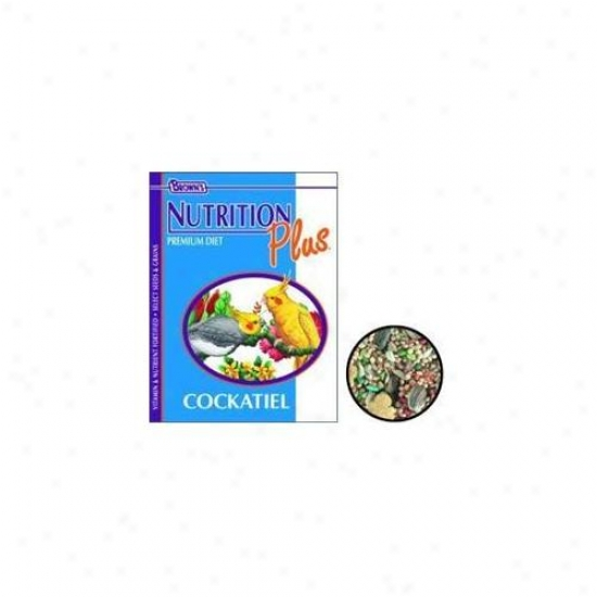 Brown S F.  M.  Sons Cockatiel Nutrition Plus Food 22. 5 Pounds - 44312