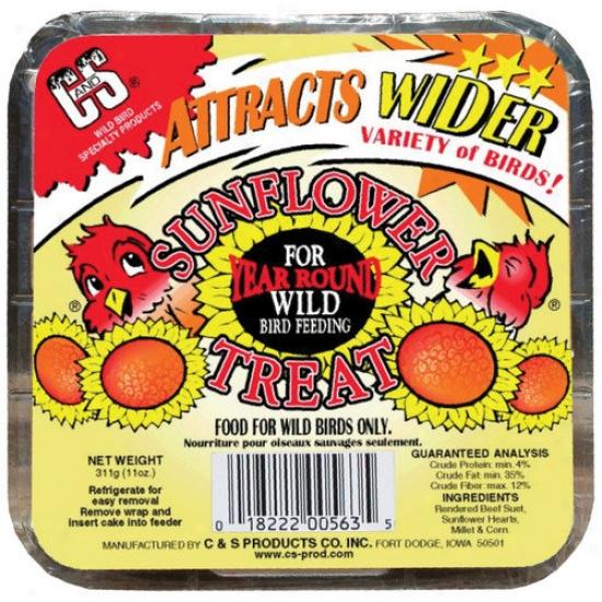 C&s Products Sunflower Treat Wild Bird Suet