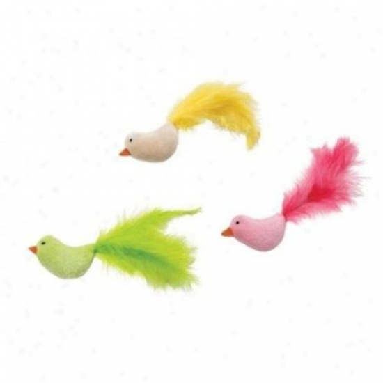 Ethical Cat 2798 Flicker Fun Feather Bird