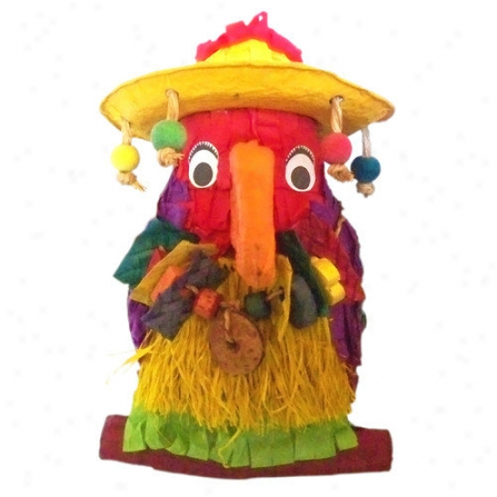 Fetch-it Pets Ultimate Polly Wanna Pinatas Pete The Parrot Bird Toy