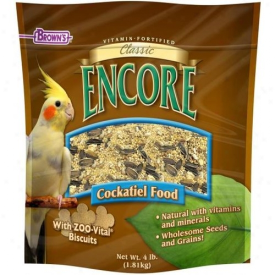 Fm Browns 54023-8 Encore Classic Natural Cockatiel Food