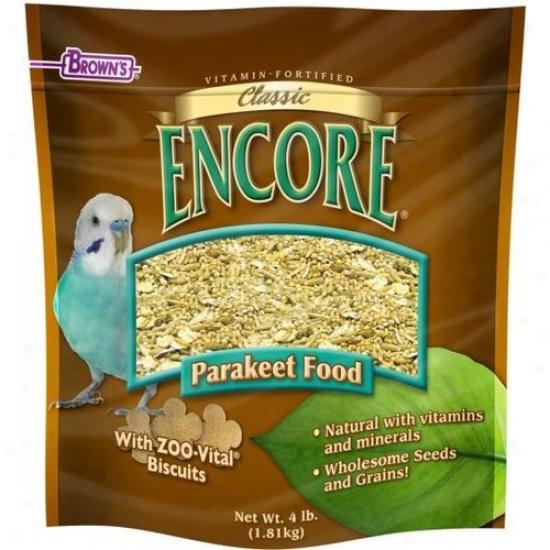 Fm Browns 54026-9 Encore Classic Natural Parakeet Food