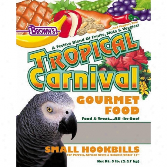 F.m. Browns Wildbird Small Tropical Carnival Hookbill Food - 5 Lbs