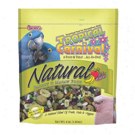 F.m. Browns Wildbird Tropical Carnival Natural Macaw Food - 4 Lbs