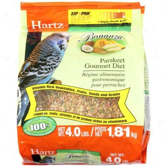 Hartz 4 Lb Nturition Bonanza Parakeet Gourmet Diet  97625