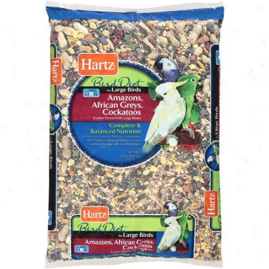 Hartz: Large Bird Diet Food, 8 Lb