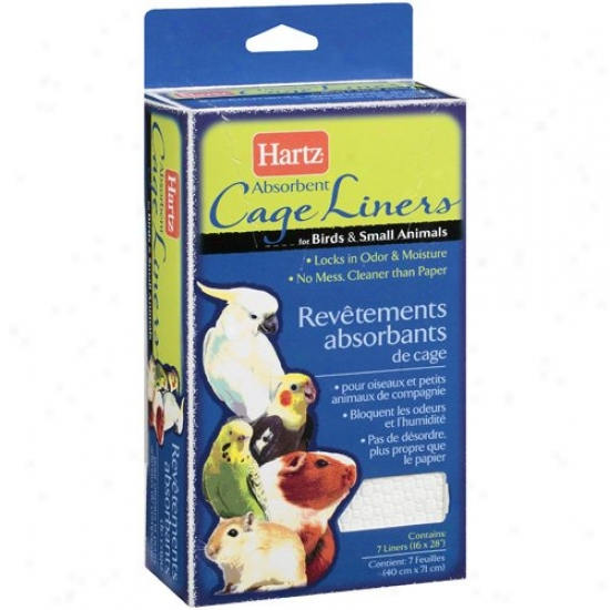 Hartz Living Absorbent Cage Liner For Fowl And Small Animal