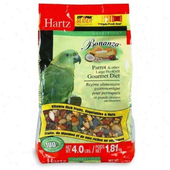Hartz Nutrition Bonanza Parrot And Other Large Hookbill Gourm (4 Lbs)