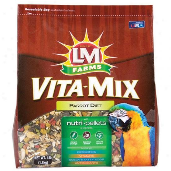 Hartz Vita-mix Parrot Diet Food - 4 Lbs