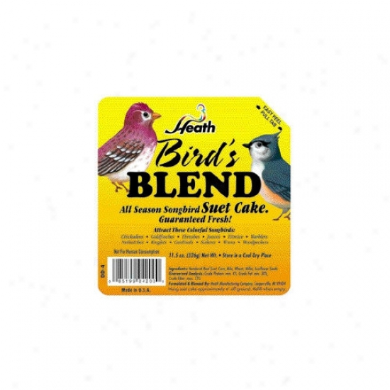 Heath Mfg Co Birds Blenf Hi-energy Wild Bird Suet Cake