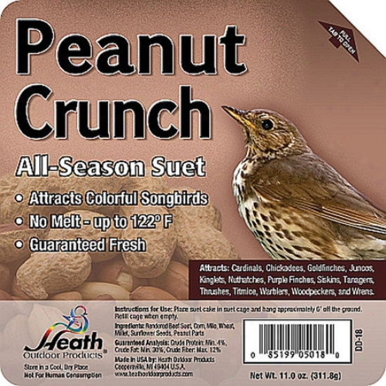 Heath Mfg Co Peanut Crunch Wild Bird Suet Cake