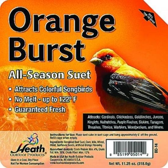 Heath Mfg Dd-14 Orange Burst Suet Cake