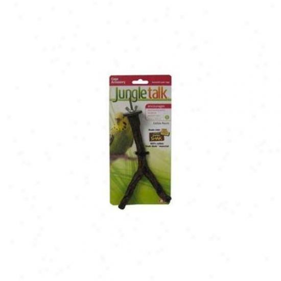 Jungle Talk Pet Products Bjnp84006 Edible Perch Split Branch Little
