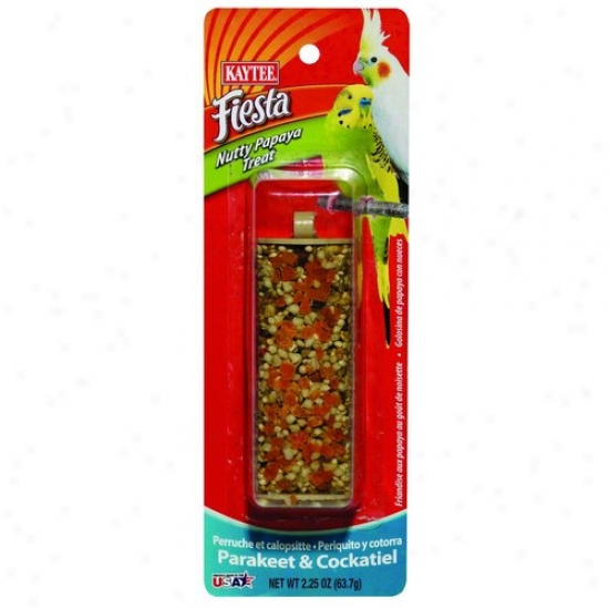 Kaytee 100504021 Fiesta Nutty Papaya Treat Stick