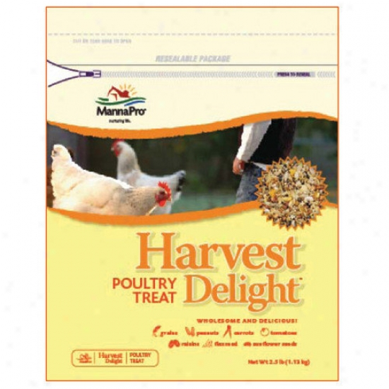 Manna Pro-farmm Harvest Delight Poultry Treat - 2.5 Lbs