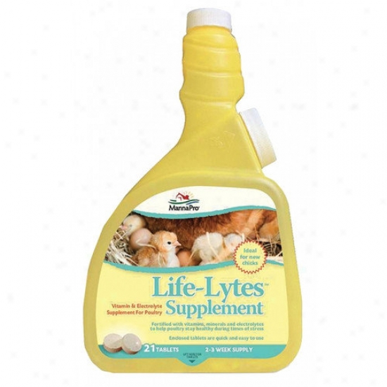 Manna Pro-farm Life-lytes Poultry Supplement - 21 Count