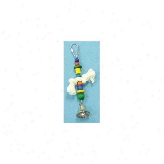 North American Pet Bbo22157 Beads- Knot- Spool- Disk- And Bell Toy For Birds