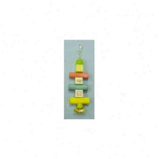 Northerly American Pet Bbo22339 Parroot Toy With Alpha Blocks- Dowels- Beade And Bell