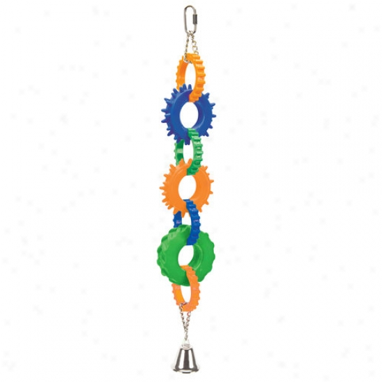 Penn-plax 4-gear Rings Bird Toy, Multi-colored