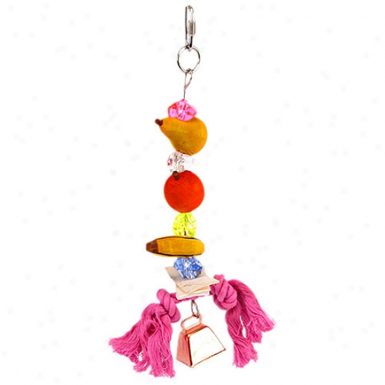 Penn Plax Fruit Kabob Bird Toy
