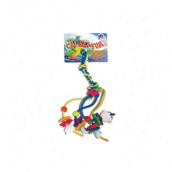 Prevue Hendryx Cal-sea-yum Braid Small Bird Toy