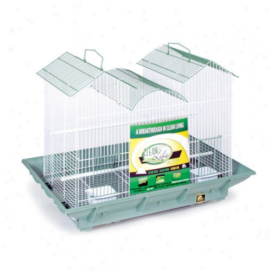 Prevue Hendryx Clean Animated existence Triple Roof Cage In Green And White
