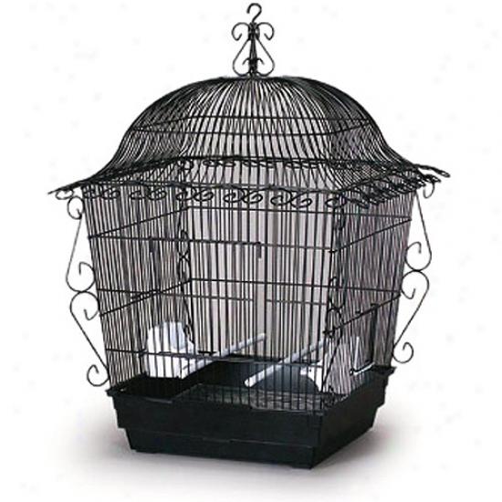 Prevue Henrydx Pp-220blk Elegant Scrollwork Fowl Cage - Black