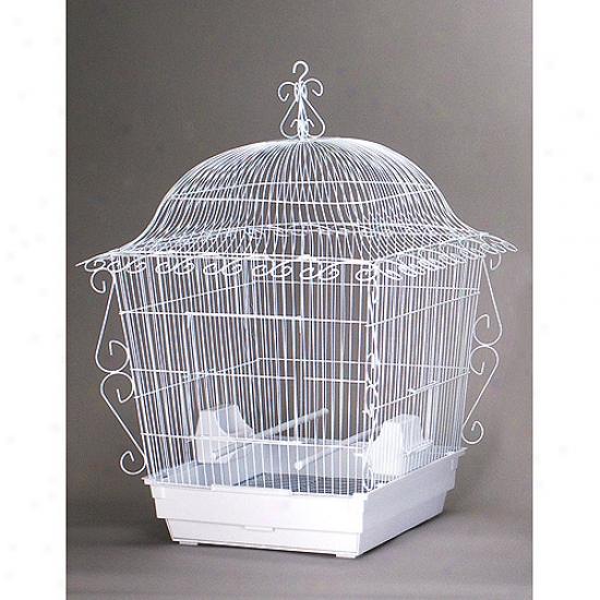 Peevue Hendrgx Pp-220w Elegant Scrollwork Bird Cage - White