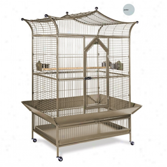 Prevus Hendryx Pp-3173w Large Royalty Bird Cage - Pewter