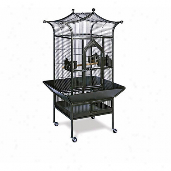 Prevue Hendryx Small Kingship Bird Cage, Black Hammertone