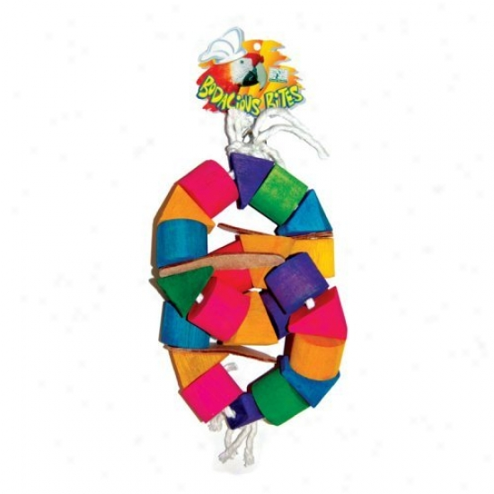 Prevue Pet Products Bodacious Bites Large Double Donut Bird Toy