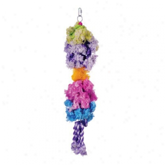 Prevue Pet Products Calypso Creations Tied In Knls Bird Toy