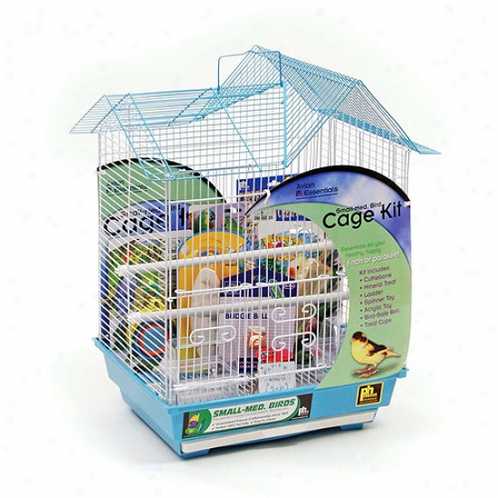 Prevue Pet Products Double Roof Parakeet Cage Kit 91110